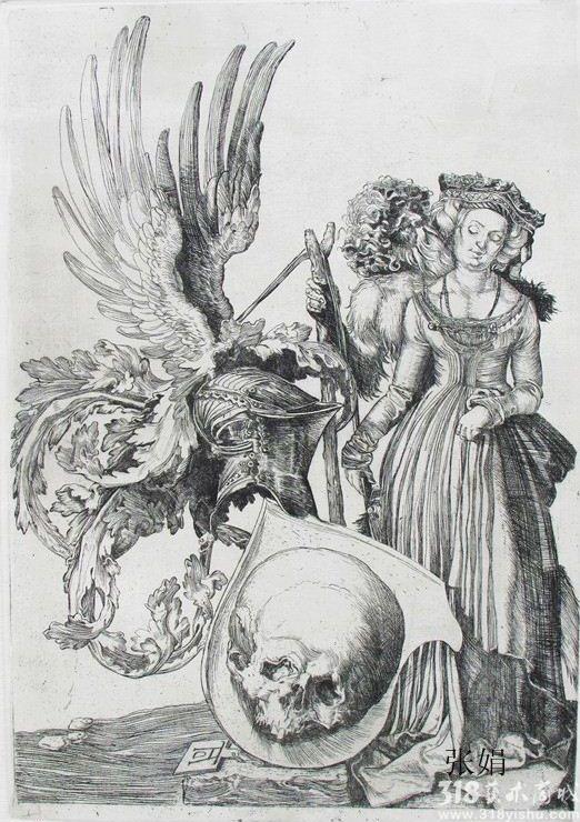 天使素描铅笔画