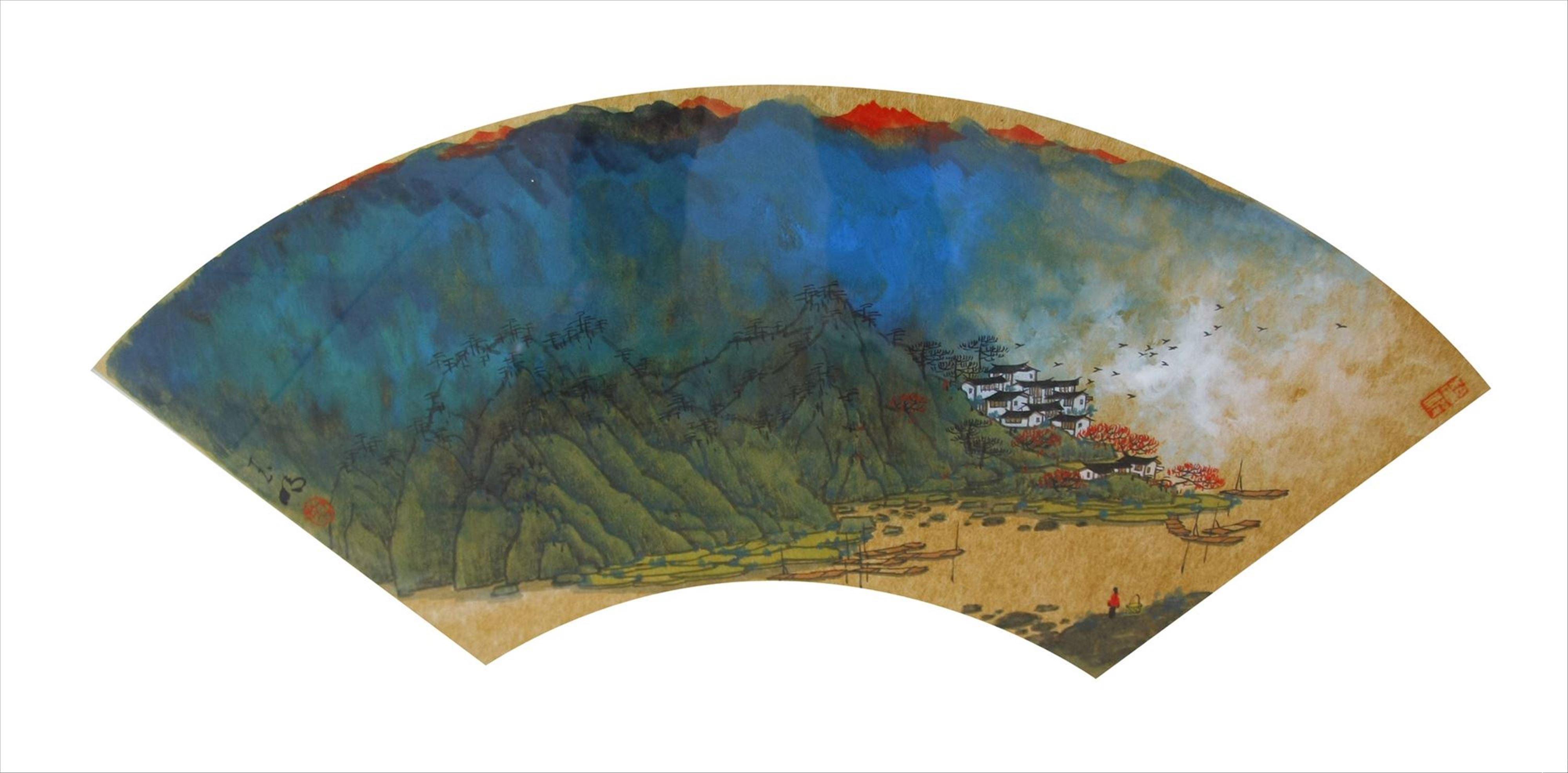 丹可林重彩油画棒风景