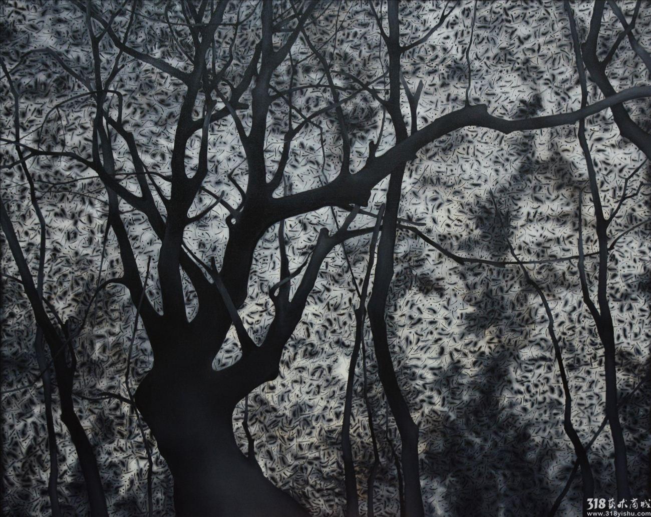 树林系列7_油画_318艺术商城