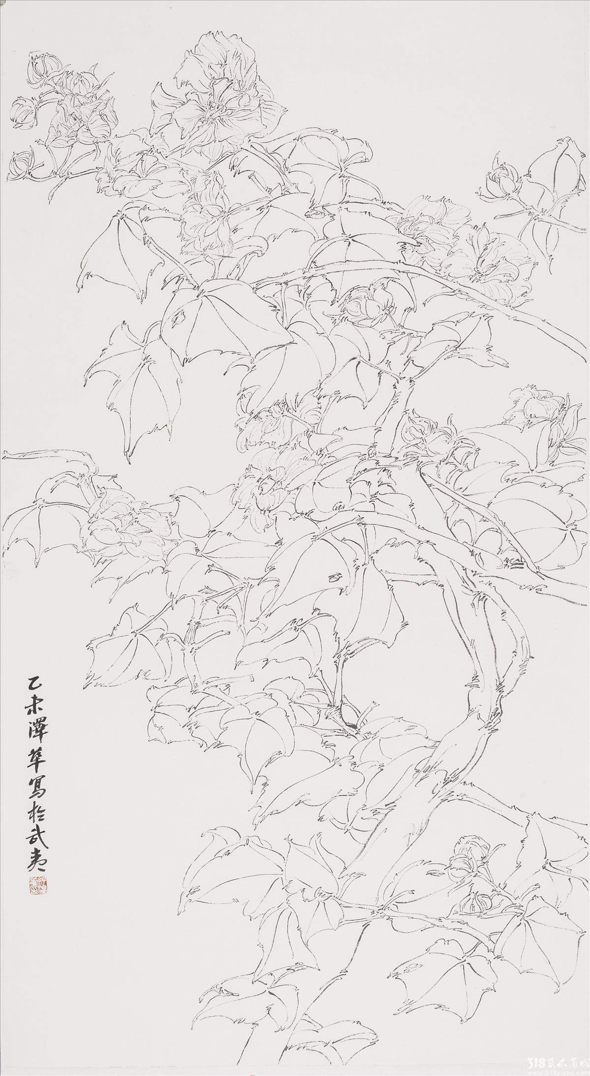 芙蓉花_花鸟_国画