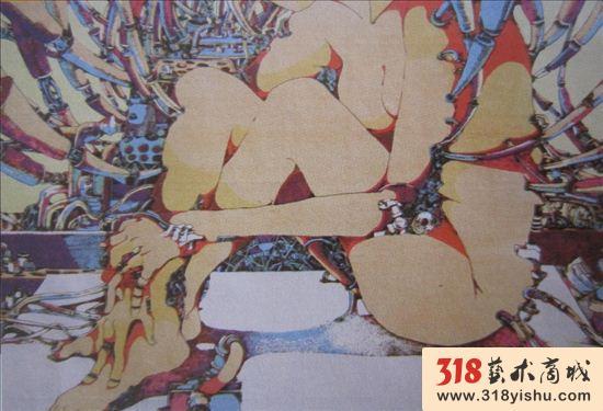 丝网版画的材料主要是尼龙网纱.最初采用丝绢,故称丝网.