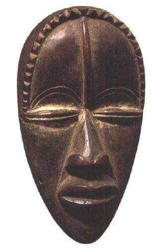 非洲部落面具-关于现代艺术的 画其所见