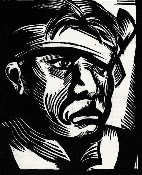 》1934年,木刻版画