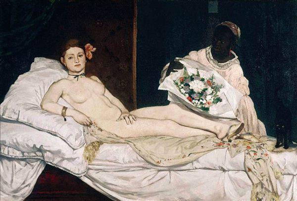 马奈/马奈·《奥林匹亚》,1863,布上油画人物,131×190cm,巴黎...