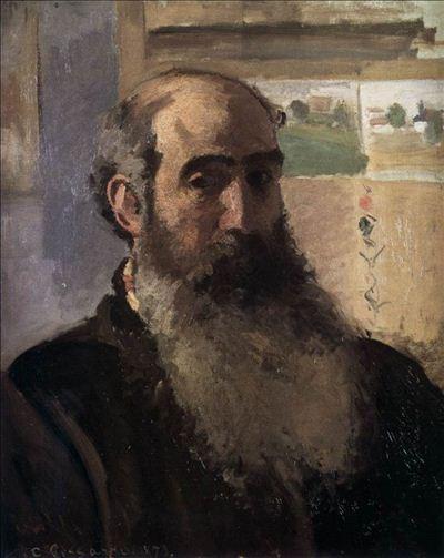 318,油画,油画人物,毕沙罗,《自画像》