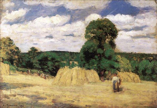 318,油画,油画人物,毕沙罗,《丰收》