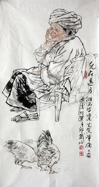 舒湘汉:我的人物画内容和题材都来自湘西的少数民族土家族,苗族