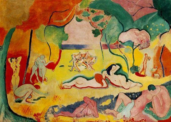 油画作品《生命的快乐》,这是马蒂斯最好的人物 油画风景画之一.