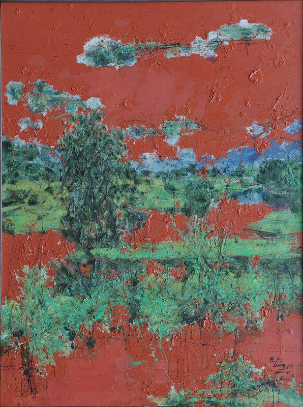 《行云》,《天机》,《升》等系列 油画风景组画中,以鸟瞰世界俯视寰宇