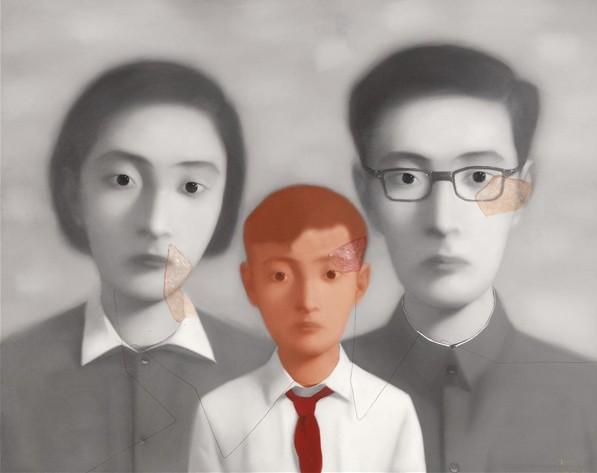 《血缘系列:大家庭》,布面油画图片