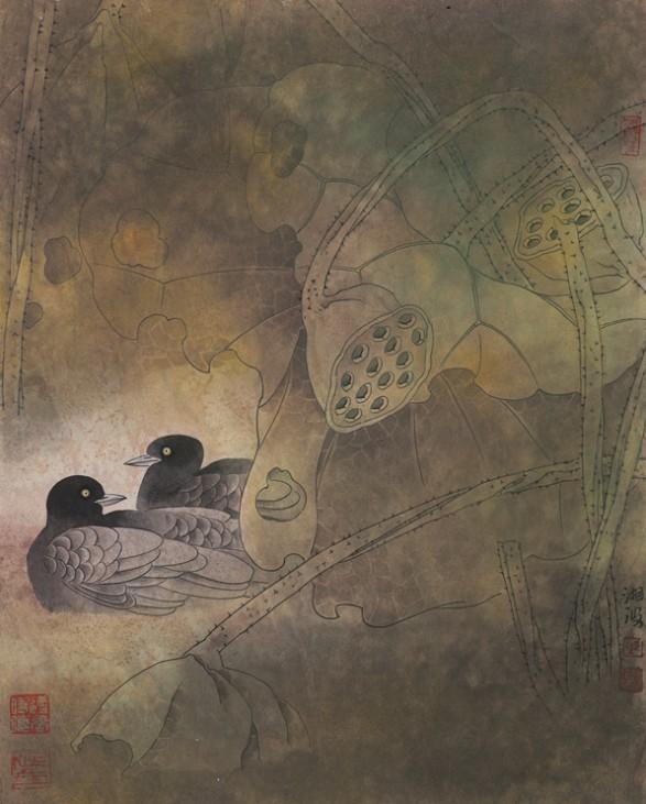 318,318艺术,陈湘波,国画,国画花鸟,《荷塘倩影》