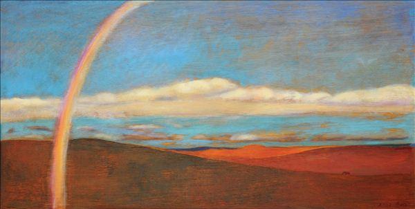 虹�9.�9.b:`�9/cy.#z�yd_《梦之虹》,木板油画,46.5×90cm,创作年代暂无.