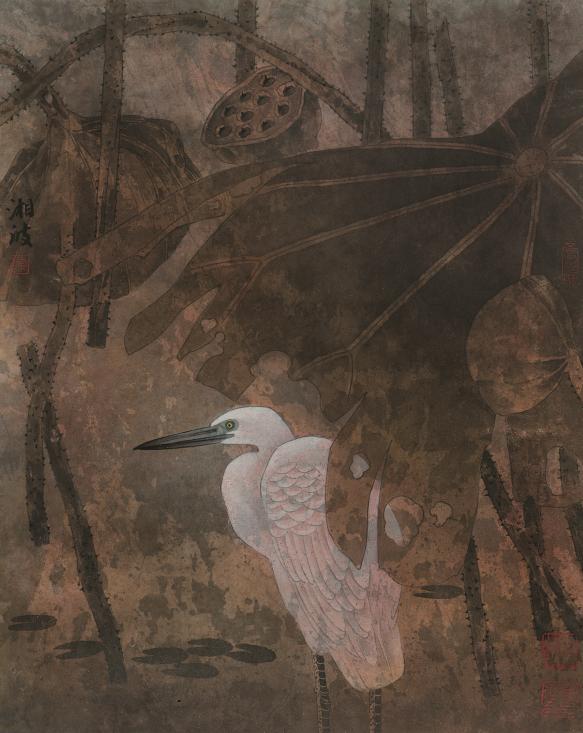 318,318艺术,当代艺术,艺术品网站,艺术品交易网站,国画,陈湘波,《荷塘自有赏秋处》