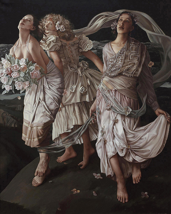 刘溢,油画,当代艺术,原创艺术,艺术收藏,318,318艺术,《三女神》