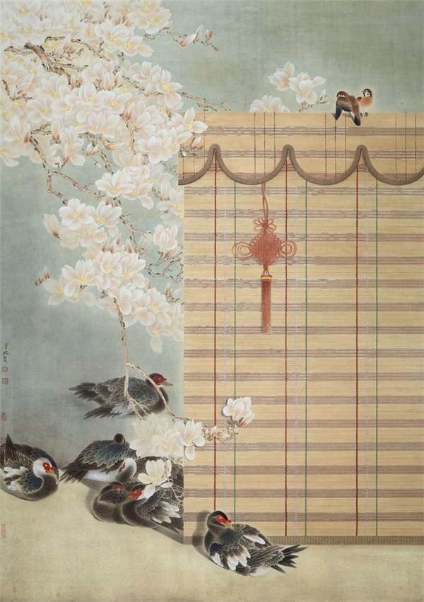 王少桓花鸟画作品欣赏 其画其人